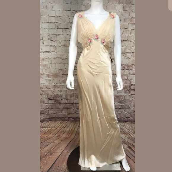 Topshop Dresses Formal Dress 8 Appliqu Beige Long Nude Poshmark